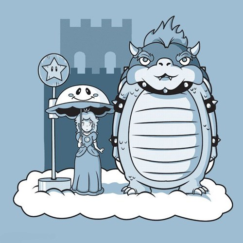 princess peach,mashups,bowser,my neighbor totoro,mario