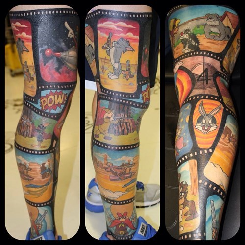 tattoo WIN looney tunes tattoos cartoons - 8038502144