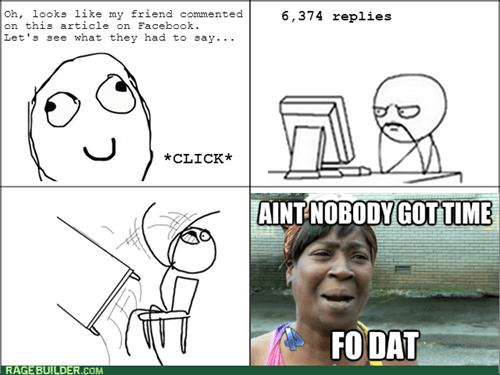 comments facebook ain't nobody got time for dat table flipping