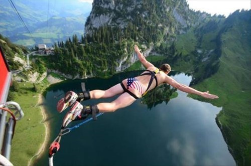patriotic bungee jumping poorly dressed speedo g rated - 8039972608