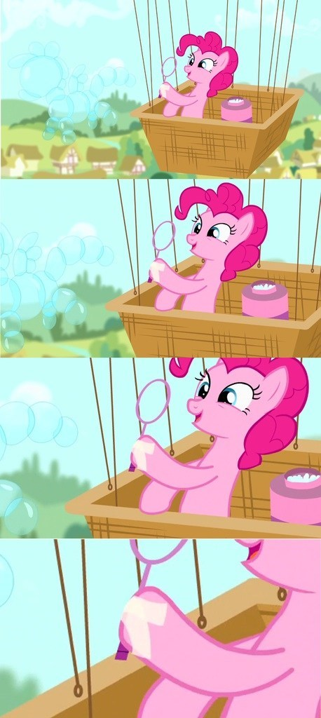 hoof tape,pinkie pie,bubbles