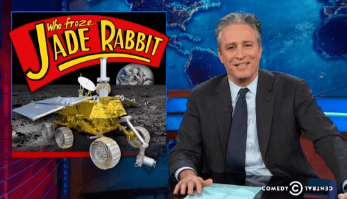 China,moon,the daily show,science,rover,funny,g rated,School of FAIL