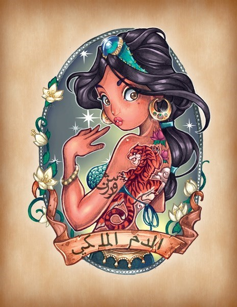 disney,list,disney princesses,tattoos,cartoons