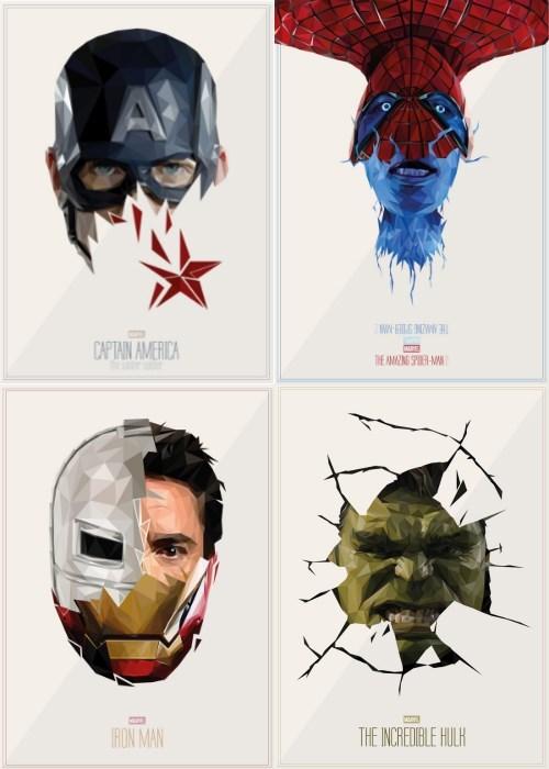 the hulk Fan Art iron man captain america Spider-Man - 8040374272