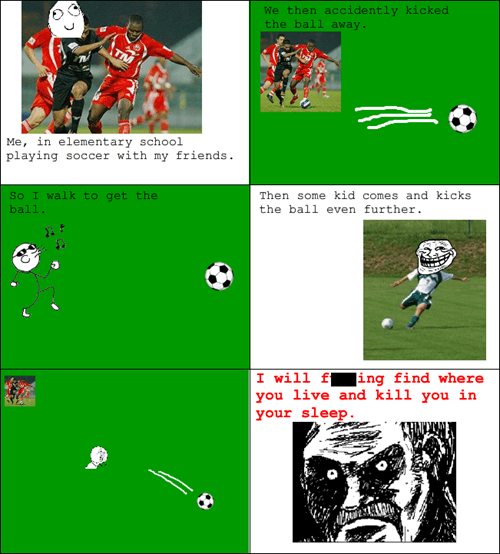 rage trollface kids soccer - 8040403456