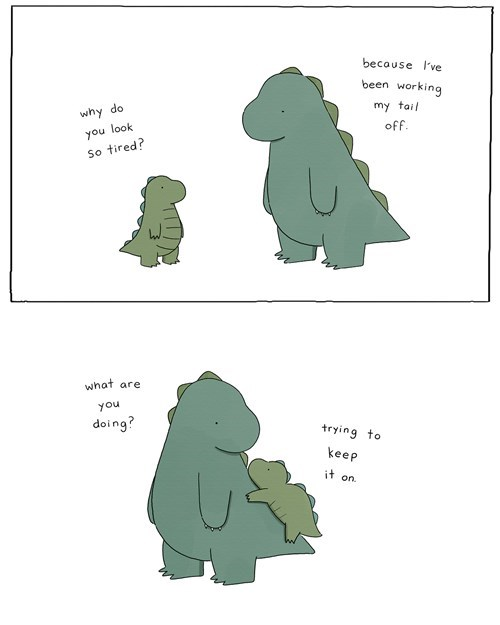 cute parenting dinosaurs web comics - 8040451328