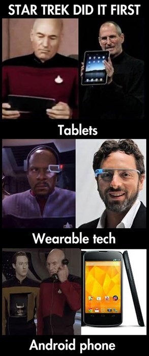 android,comparison,Star Trek,futuristic