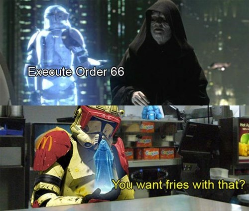 star wars,puns,fast food,Emperor Palpatine