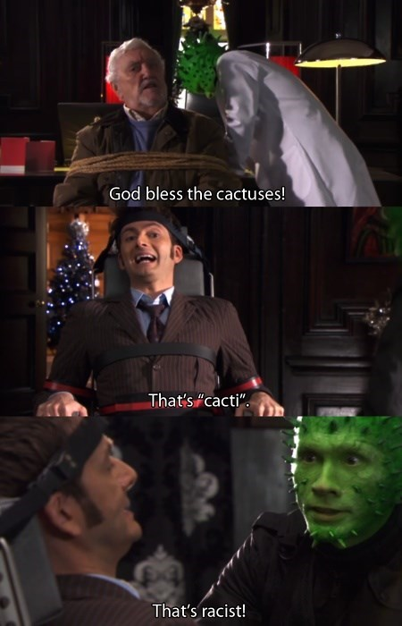 David Tennant 10th doctor cactus - 8040656896