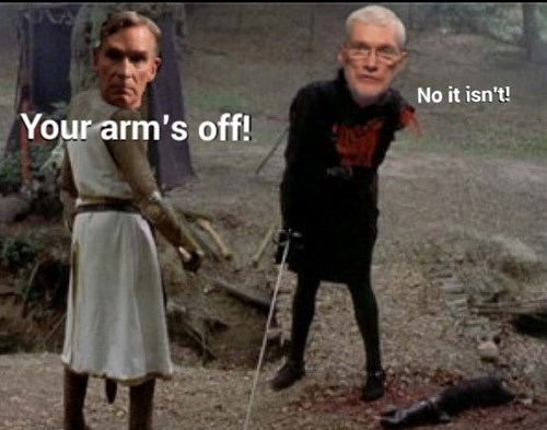 the black knight,bill nye,ken ham,monty python