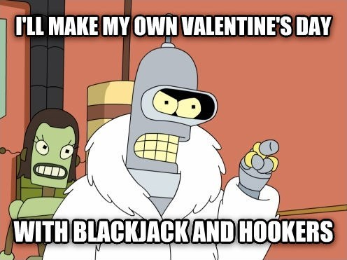 bender futurama Valentines day - 8040886528
