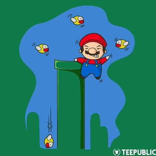 flappy birds,tshirts,mario