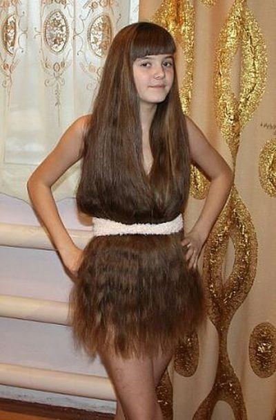 hair poorly dressed
