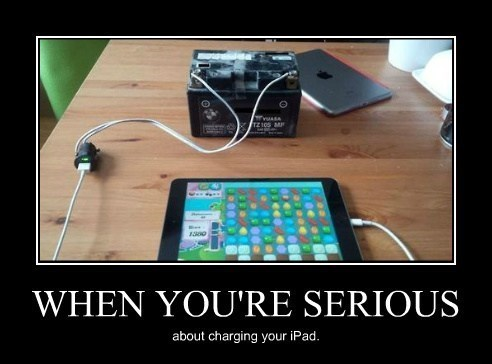 bad idea charger tablet battery funny