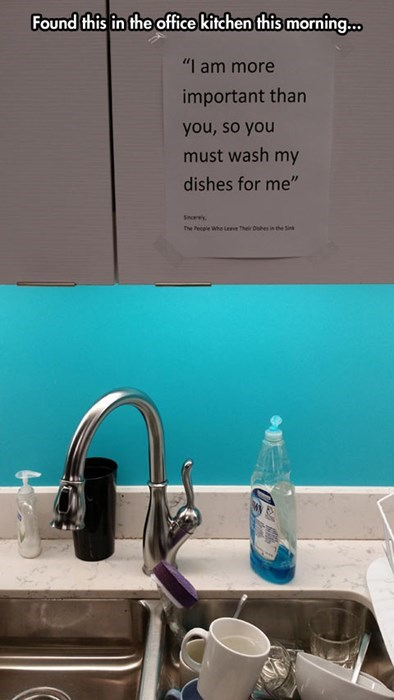 offices coworkers dishes passive aggressive - 8042422272