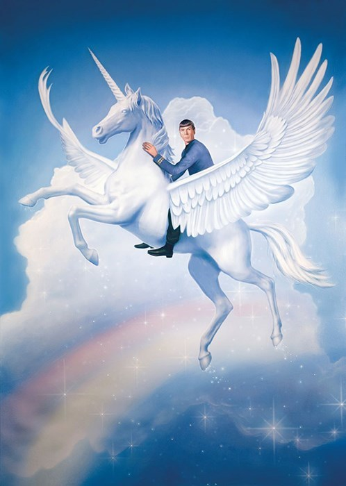 rainbows art Spock unicorns magical sci fi amazing - 8042465792