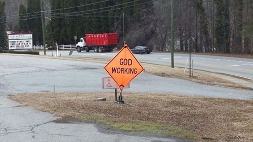 monday thru friday sign work road work - 8042533632