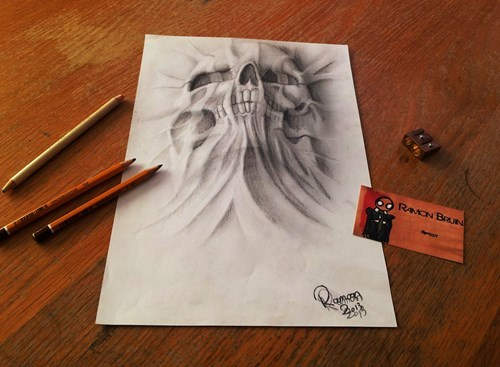 art,optical illusions,artsy fart,ramon bruin,drawings