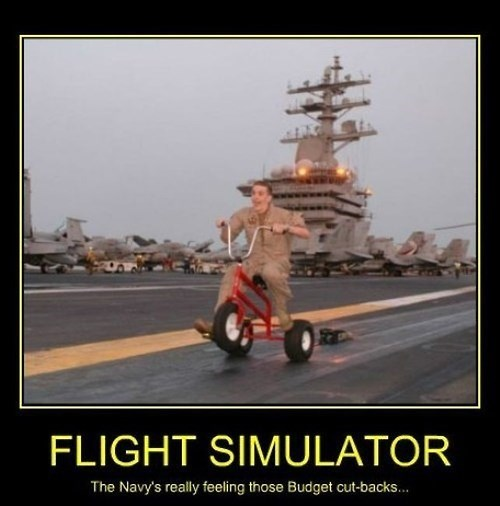 flight simulator,budget cuts,navy,miltary,funny