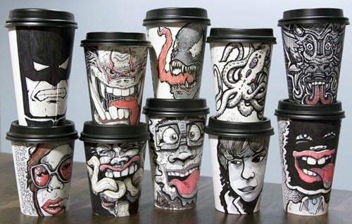 cups art design nerdgasm coffee - 8042705920