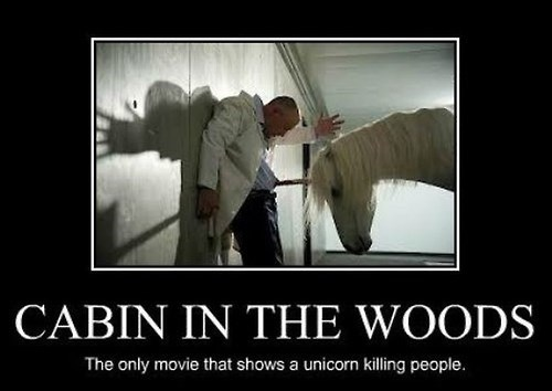unicorn,funny,Cabin in the Woods