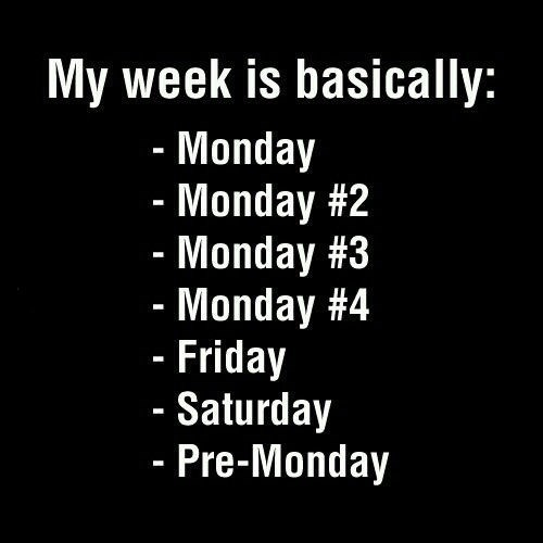 funny weekdays depressing monday - 8042904576