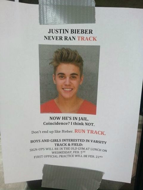 Track and Field,justin bieber
