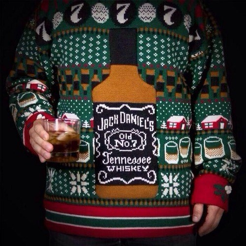 jack daniels whiskey ugly sweater funny - 8043120640