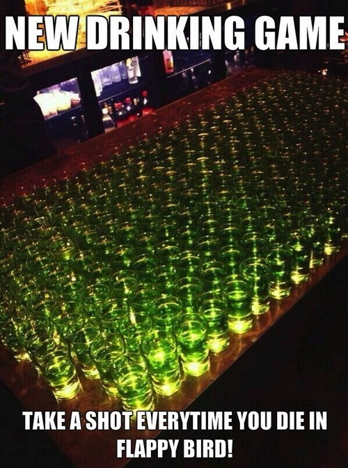 shots,alcohol,flappy bird