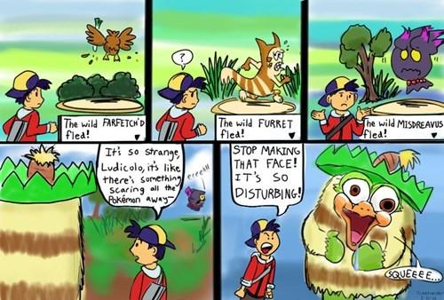 Pokémon scary face ludicolo web comics - 8043153408