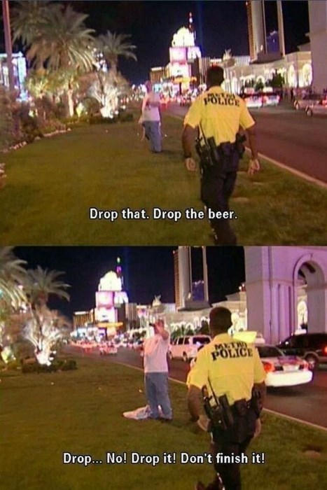 cops beer bad idea funny - 8043196160