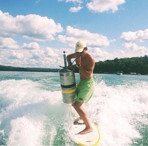 beer,Multitasking,surfing,funny,keg