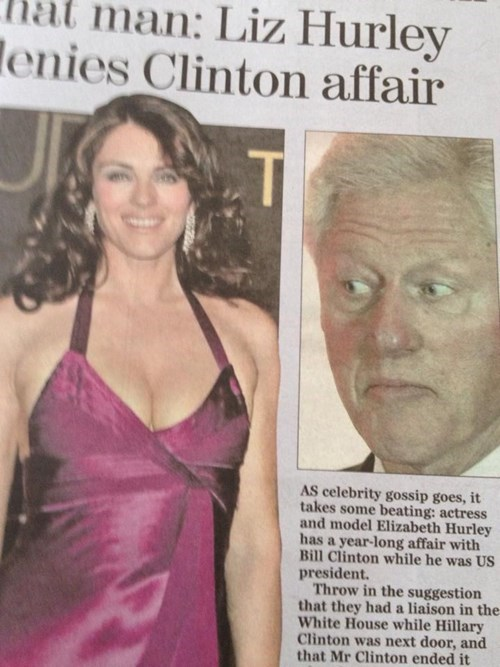 news,liz hurley,affair,newspaper,bill clinton,fail nation,g rated