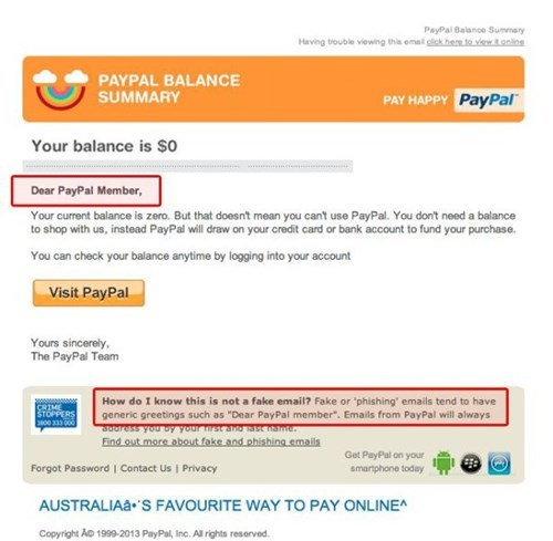 email scam paypal - 8043368960