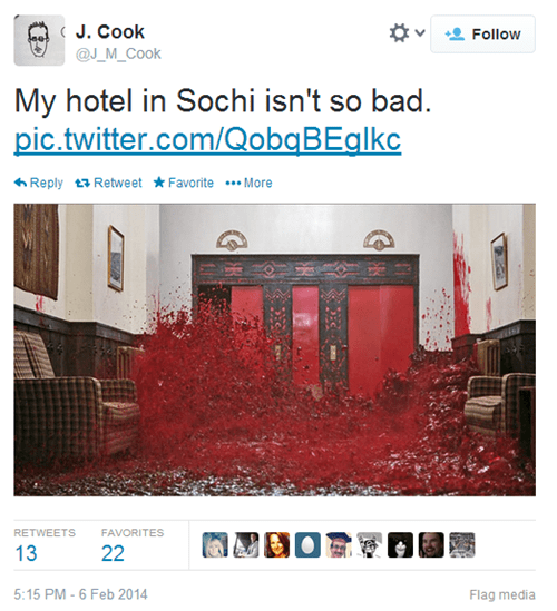 the shining,hotel,news,Sochi 2014,failbook