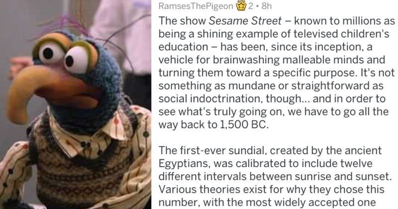 theory about sesame street being used to brainwash kids