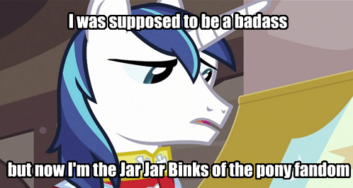 shining armor,worst pony,jar jar binks
