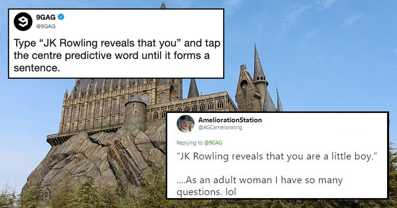 twitter Harry Potter jk rowling reveals that you jk rowling smartphones parody funny tweets twitter challenge 9gag - 8045573