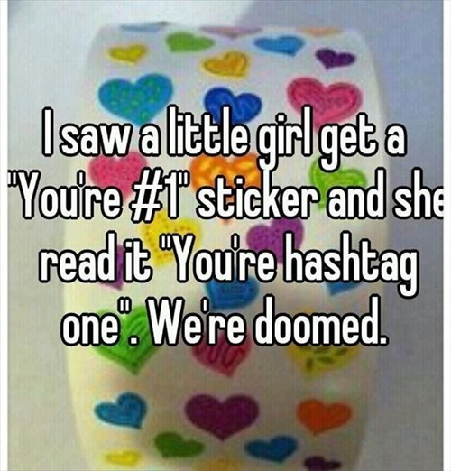 sticker doomed kids hashtags parenting - 8046036736