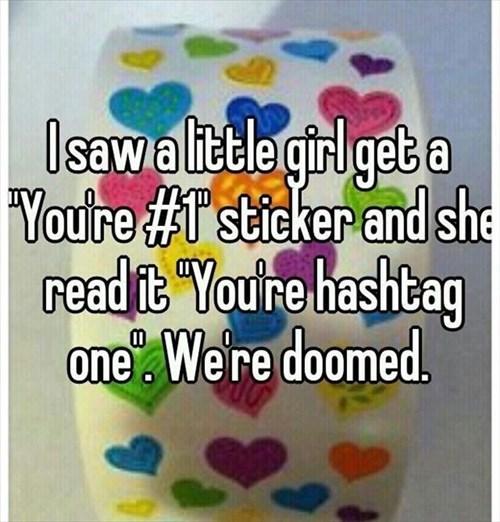 sticker doomed kids hashtags parenting - 8046036736
