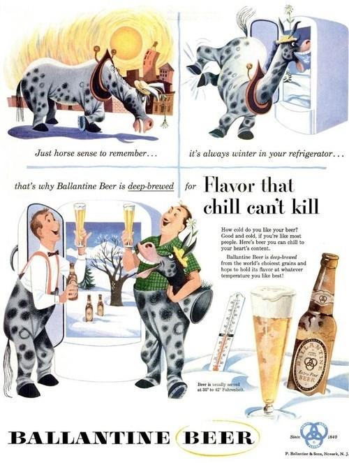 beer ballantine ads funny vintage - 8046467328