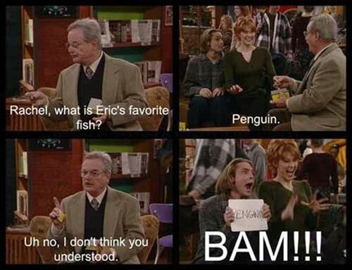 penguins,boy meets world,eric matthews,stupid