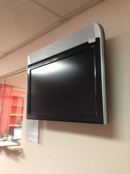 monday thru friday work TV upside down