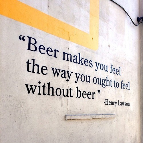 beer henry lawson quote funny - 8046685952