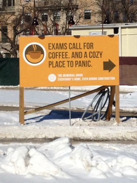 sign,panic,funny,exams,g rated,School of FAIL