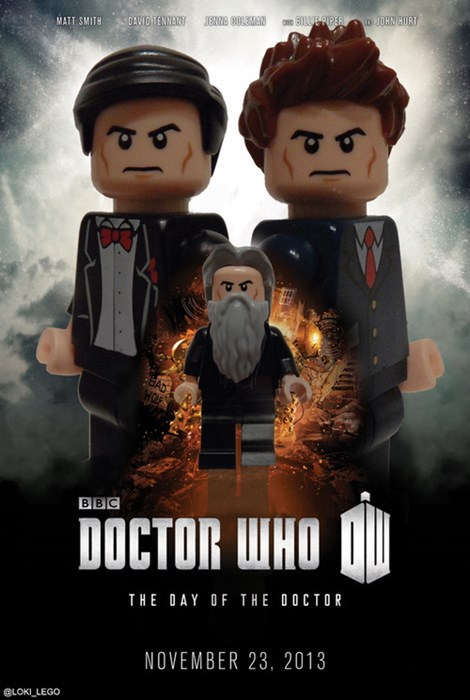 lego,10th doctor,11th Doctor,50th anniversary,war doctor