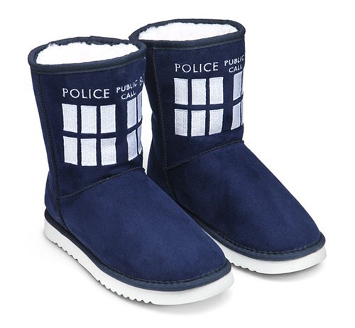 tardis,uggs,Think geek