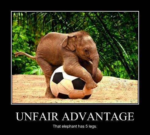 elephants cheating soccer funny - 8046847744