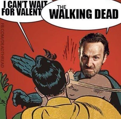 Rick Grimes The Walking Dead Valentines day - 8046906368