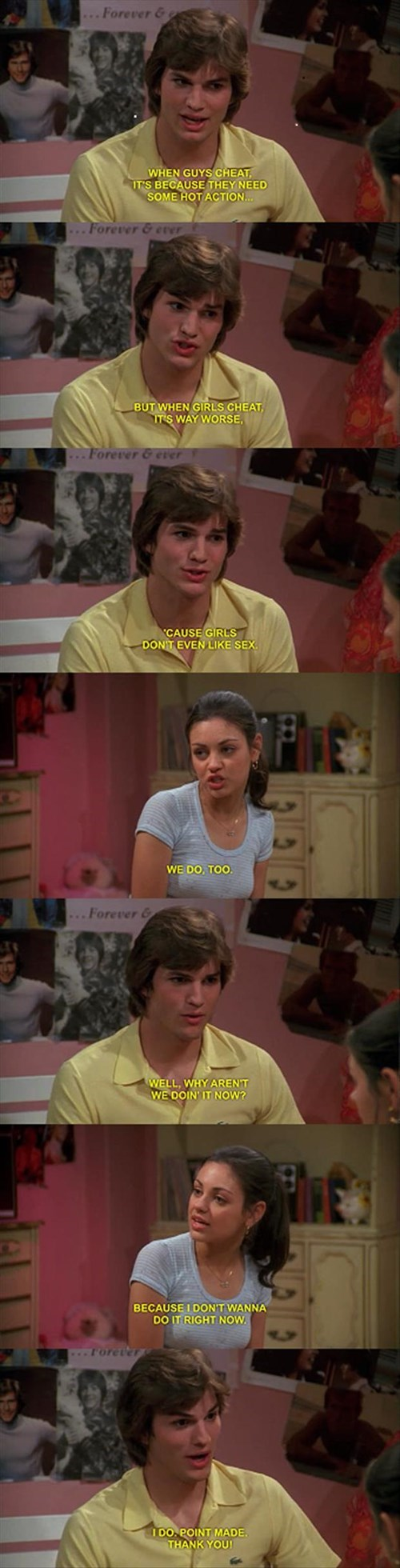 sex,that 70s show,case in point,men vs women